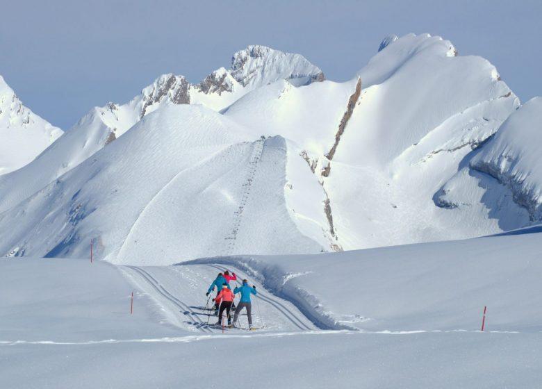 Ski de fond au plateau de Beauregard à Thônes