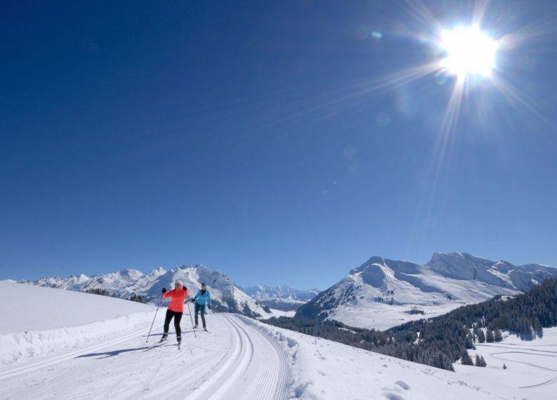 Ski de fond et skating au Plateau de Beauregard