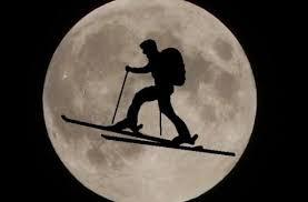 Pleine lune- Ski de randonnée