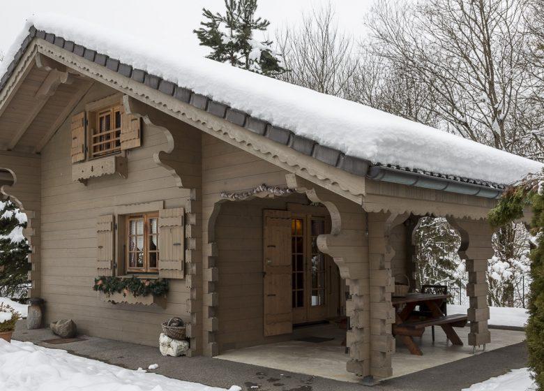 Vue extérieure hiver – Chalets de Juliette