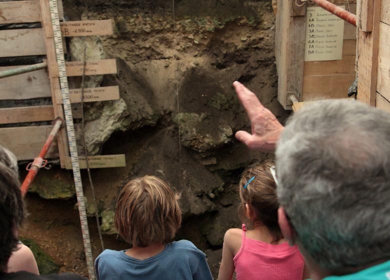Visite de l'abri sous roche